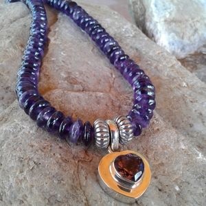 Jewelry - Sterling Silver Amethyst Heart NECKLACE
